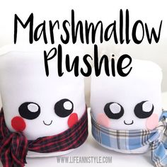 Marshmellow Plushie    Make a sweet, squishy marshmellow pillow that's perfect for any great kid you know. This is a terrific DIY gift, especially for the winter or holiday season too.