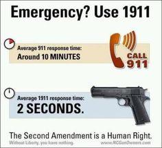 Emergency? Use 1911