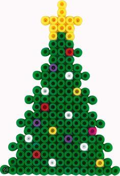 Billedresultat for hama perler Perler Bead Designs, Hama Beads Design, Hama Beads Patterns, Beading Patterns, Pixel Art Noel, Christmas Perler Beads, Peler Beads, Iron Beads, Melting Beads
