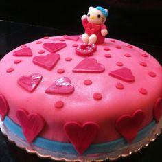 Kitty b-day chocolate cake!