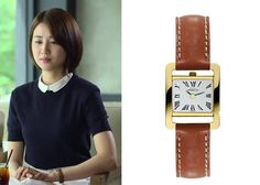"Park Ha-Sun 박하선 in ""Temptation"" Episode 6. Michel Herbelin 17037 / P01GO Watch #Kdrama #Temptation 유혹 #ParkHaSun"