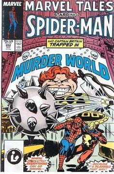 Comic Book Vintage Marvel Tales SPIDER-MAN in MURDER WORLD 202 Aug 1987   A2 C39