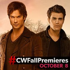 "@thecwtvd's photo: ""Season 7 of #TVD premieres October 8! #CWFallPremieres"" #damonsalvatore #stefansalvatore #iansomerhalder #paulwesley"