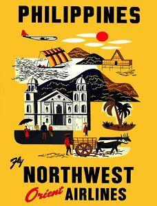 Philippines vintage travel poster.
