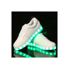 Fashion LED Light Inside Shoes Luminous USB charging colorful Casual... (360 CNY) ❤ liked on Polyvore featuring shoes and sneakers