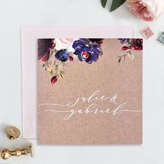 is the first Gift Registry directly addressed to you, with no handling fees. Carton Invitation, Invitations, Faire Part Vintage, Faire Part Chic, Gift Registry, Gift List, Online Gifts, Floral Motif, Wedding Planner
