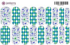 """It's a boy!"" gender reveal inspired nail wraps.  Design your own in the Jamberry Nail Art Studio: http://www.kimd.jamberrynails.net/nas/"