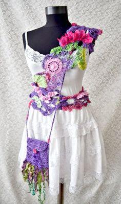 Crocheted Scarf Romantic Summer Night by irinacarmen on Etsy, $64.00