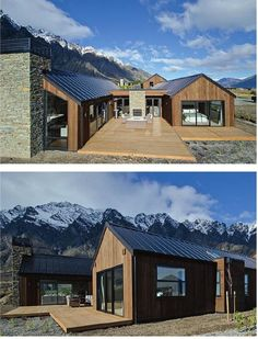 Popular Barn House New Zealand Architecture Ideas Modern Barn House, Barn House Plans, Modern House Design, Modern Cabins, Small House Design, New Zealand Architecture, Residential Architecture, Architecture Design, University Architecture