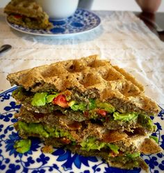 These gluten free, vegan Savoury Waffles can be filled with any assortment of delicious savory fillings and are made using buckwheat, flaxseed and brown rice flours.  @CravingGoodness