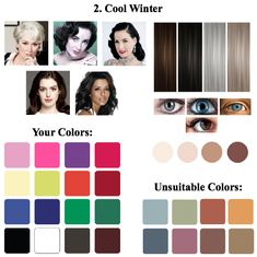 788 Best Winter Color Type Images Clear Winter Color Combinations
