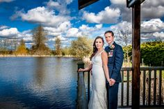 Bride and groom at the lake at Millers of Netley - www.marielloydphotography.co.uk