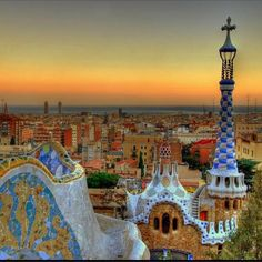 Park Güell from our Romantic #Barcelona. Been there - just as cool as it looks!