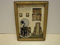 Vtg Silhouette Advertising Thermometer Modern Furniture Store Utica NY Art Deco | eBay