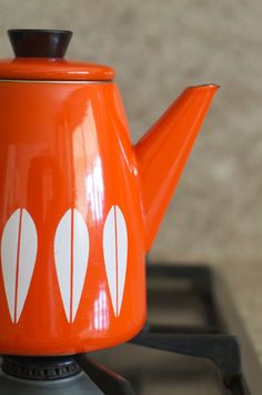 coffee pot, cathrineholm, norway, mcm, midcentury design, decor