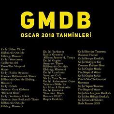Bu senenin Oscar Totosu... Bakalım kaçı tutacak? #oscarlıktahminler #oscar #film #movie #sinema #gmdb