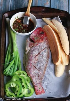 Caribbean grill whole red snapper whole red snapper recipes, whole fish recipes, grilled red Fish Dishes, Seafood Dishes, Fish And Seafood, Seafood Recipes, Cooking Recipes, Tilapia Recipes, Cooking Tips, Whole Red Snapper Recipes, Whole Fish Recipes