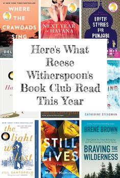 Here's What Reese Witherspoon's Book Club Read This Year Book Club List, Book Club Reads, Book Club Books, Book Lists, Top Books To Read, Good Books, My Books, Reading Books, Reese Witherspoon Book Club