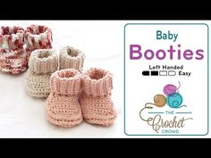 Roll Down Baby Booties + Tutorial - The Crochet Crowd