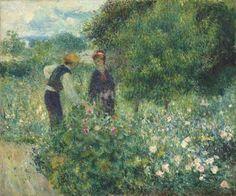 #impressionistiaroma Auguste #Renoir. Cogliendo fiori, 1875, olio su tela. Collezione Ailsa Mellon Bruce, 1970.17.61