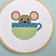 Mouse cross stitch pattern #stitching #etsy