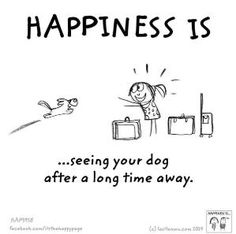 Official home for the internationally beloved brand created by Lisa Swerling & Ralph Lazar. Tell us what makes you happy & we'll illustrate it. ---i agree with this love seeing my aspen after being gone What Makes You Happy, Are You Happy, I Love Dogs, Cute Dogs, Yorkshire Terrier Puppies, Cartoon Dog, Dog Cartoons, Animal Quotes, Happy Dogs