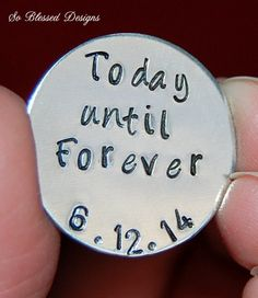 Groom Gift from Bride Today until Forever coin by SoBlessedDesigns
