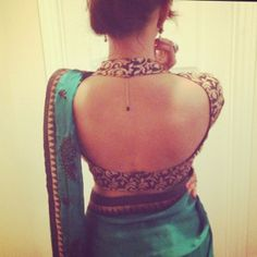 getitstiched #saree blouse design open back