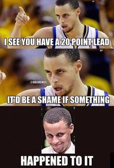 Lol steph curry funny sports memes, sports humor, cheerleading for kids, team mom Funny Nba Memes, Funny Basketball Memes, Sport Basketball, Love And Basketball, Curry Basketball, Basketball Stuff, Basketball Playoffs, Funny Humor, Basketball Tattoos