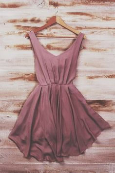 dark pink flowy pleated dress