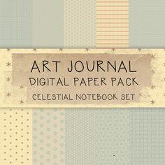 Art Journal Digital Collage Paper  by karen michel