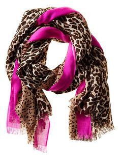 Madison Leopard Scarf | Banana Republic