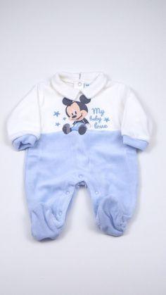 Tutina Disney 448041 Tutina neonato Disney aperta sotto e dietro realizzata in ciniglia di cotone