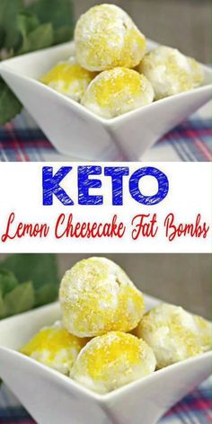 Keto Lemon Fat Bombs – BEST Lemon Cheesecake Fat Bombs – Easy NO Bake Low Carb Recipe Keto Fat Bombs! Yummy keto desserts for the BEST keto fat bombs. A low carb cheesecake fat bomb everyone loves. Mix up a few ingredients for this NO BAKE keto recipes w/ Keto Desserts, Keto Dessert Easy, Keto Snacks, Dessert Recipes, Holiday Desserts, Easy Desserts, Healthy Snacks, Breakfast Recipes, Free Breakfast