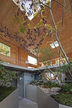 Built at the foot of a mountain in Onomichi City, the Nest House by architecture UID Architects is based on the idea of underground animal nests. Japanese Architecture, Interior Architecture, Interior And Exterior, Installation Architecture, Interior Garden, Classical Architecture, Floor Design, House Design, Wall Design