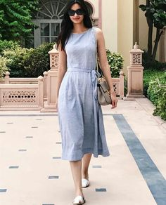 Diana Penty in cool linens Western Dresses, Indian Dresses, Indian Outfits, Western Outfits, Diana Penty, Dress Outfits, Fashion Dresses, Women's Fashion, Ikkat Dresses