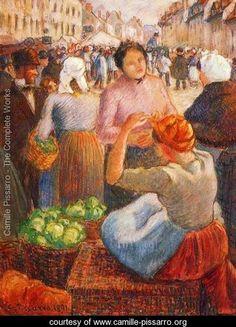 Marketplace, Gisors - Camille Pissarro - www.camille-pissarro.org