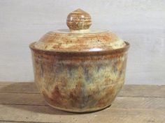 Handmade Ceramic Jar // 2 Quart Lidded Pottery by KismetPottery