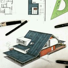 ideas patio roof design architecture for 2019 Architecture Concept Drawings, Interior Architecture, Loft Conversion Roof, Loft Conversions, Roof Design, Exterior Design, Photo D'architecture, Fibreglass Roof, Roof Styles