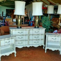 Vintage French provincial style , Dresser 6 Drawers with mirror , a...
