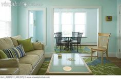 blue and green living room - Google Search