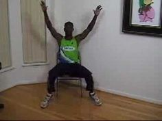 Chair Exercises: Jumping Jacks - YouTube