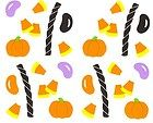 Retired NLA Candy Licorice Jelly Beans Halloween Lolly Mrs Grossman Stickers - Halloween Scrapbooking Stickers