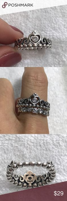 Cute ring size 8 New with tag. 925 Sterling Silver. Style exactly Pandora ring. Very nice and shiny Jewelry Rings