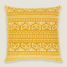 Iman Cushion Cover in Yellow