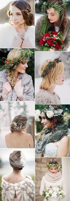 Acconciature sposa boho chic invernali