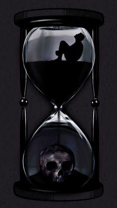 Shadow Photography, Dark Photography, Cute Disney Wallpaper, Cartoon Wallpaper, Dark Fantasy Art, Dark Art, Kopf Tattoo, Clock Drawings, Hourglass Tattoo