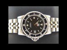 TAG Heuer 1500 Submariner Man Polished/ brushed St.Steel Black dial WD1210-D0