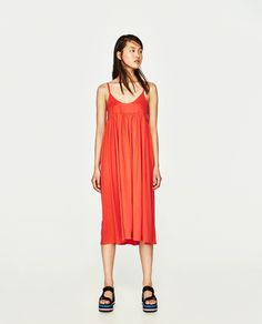 ZARA - TRF - STRAPPY POPLIN DRESS