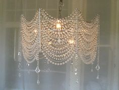 diy crystal chandelier - Google Search